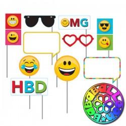 Set 10 foto booth Emoticon Smile