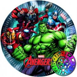 Avengers piatto 20 cm 8 pz.