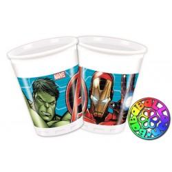 Bicchiere 200 ml Avengers conf. 8 pz.