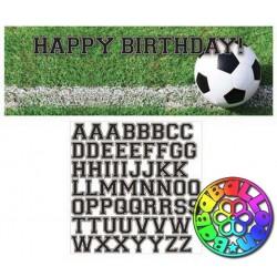 Calcio fanatic soccer festone personalizzabile con adesivi 50x150 cm
