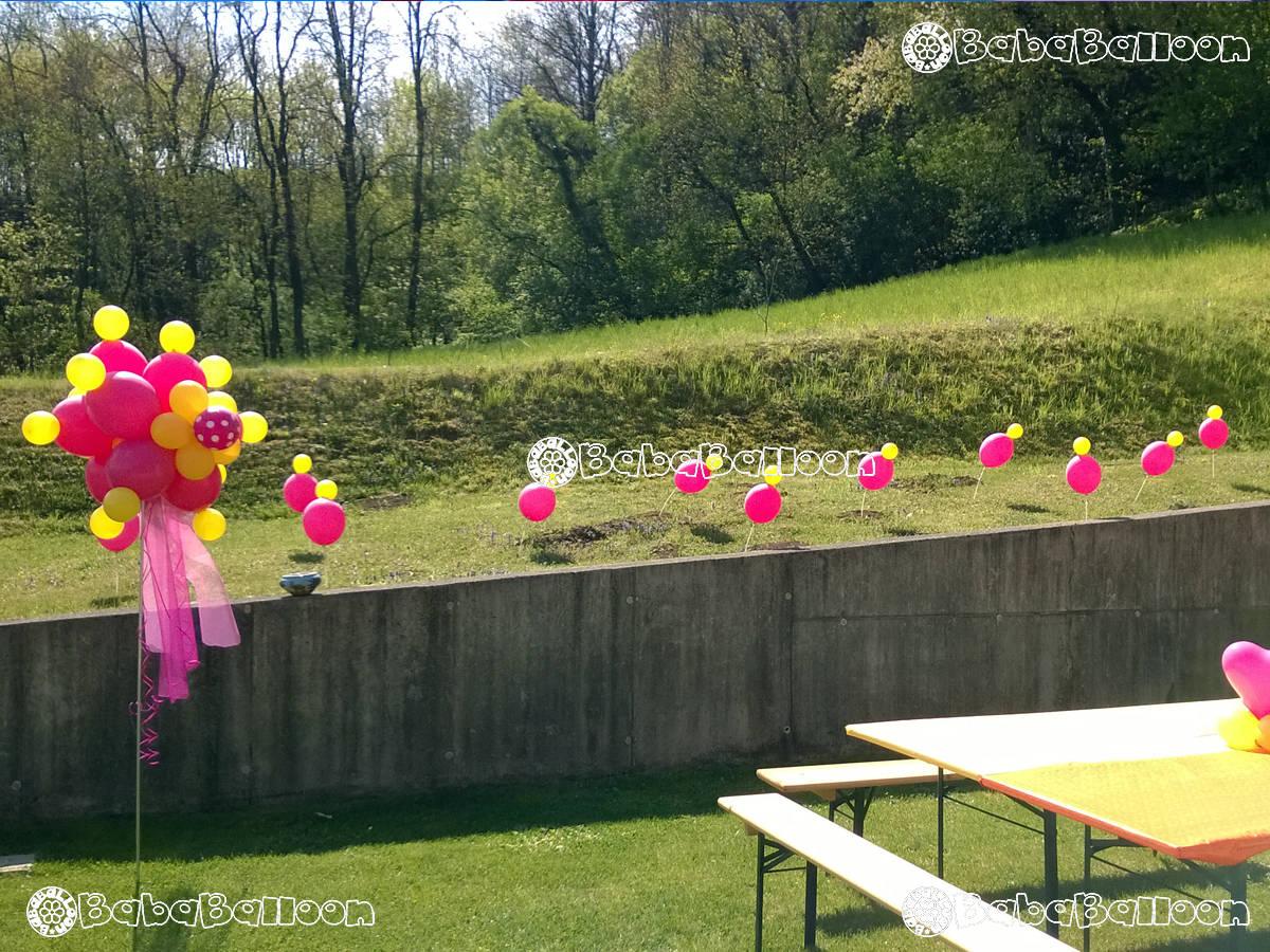 Allestimenti di palloncini per compleanni bababalloon - Allestimento giardino ...