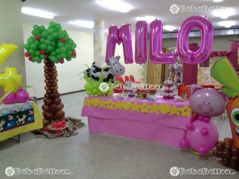 Allestimento di palloncini a tema per il compleanno della tua bambina
