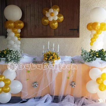 Allestimenti comunioni e cresime bababalloon - Composizione palloncini da tavolo ...