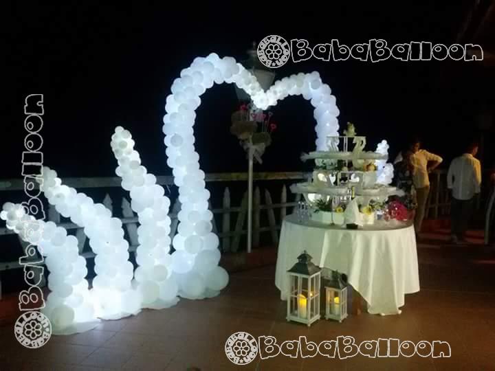 Allestimento luminoso per il party in giardino del tuo matrimonio a Vicenza, Padova, Verona, Treviso