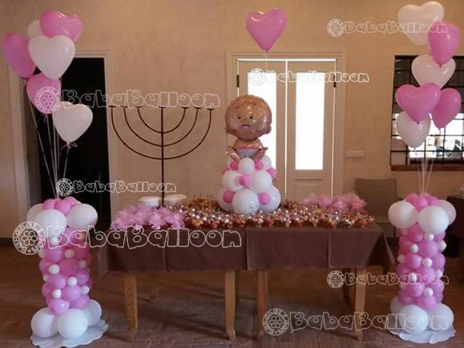 Decorazioni Sala Battesimo : Allestimenti palloncini per battesimi bababalloon